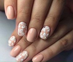 Beige nails art 2018 collection