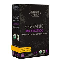 Barrie House Organic Fair Trade Aromatico Espresso Capsules 16/10 ct