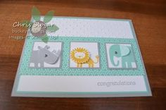 stampin up zoo babies card ideas - Google Search