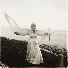 View Bishop Ethel Predonzan, By Sea by Diane Arbus on artnet. Browse upcoming and past auction lots by Diane Arbus. Diane Arbus, Fine Art Photography, Street Photography, Pose, Transgender People, Gelatin Silver Print, Famous Photographers, Greenwich Village, Photo Art