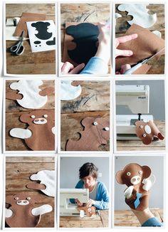 Speciaal voor 101 Woonideeën maakte Esther Schuivens van kinderlabel Esthex handpop Pieke van vilt. Download het patroon en maak de pop zelf!
