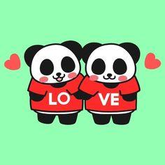 LOVE #love #panda #couple #tshirt #pandakuma #pandainlove #jjpan