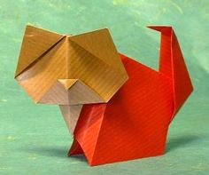 Origami Cat by Gay Merrill Gross folded by Gilad Aharoni