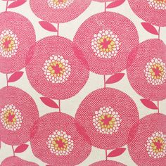 Fabric by the metre Flower Field in Rosy by skinnylaminx on Etsy