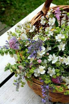 ***I don't think anyone can make a prettier bouquet than Miss Prettyfeather. She says she doesn't do anything special, that the flowers simply fall into place. Little Flowers, Fresh Flowers, Spring Flowers, Wild Flowers, Beautiful Flowers, Spring Wildflowers, Meadow Flowers, Small Flowers, Arte Floral
