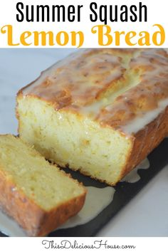 Moist and delicious Lemon Summer Squash Bread is a great way to use up yellow squash! #yellowsquashbread #lemonloaf Easy Brunch Recipes, Quick Bread Recipes, Baking Recipes, Dessert Recipes, Fall Desserts, Christmas Desserts, Summer Squash Bread, Candied Lemon Peel, Make Ahead Brunch