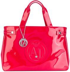 9417e6660ce Armani Jeans Eco Patent East West Tote Shoulder Bag