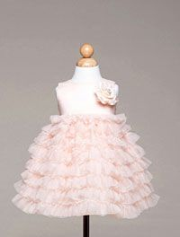 Flower Girl Dresses - Girls Dress Style BC944-Satin and Tulle Multi Tiered Dress