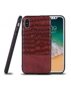 coque iphone x cuir crocodile