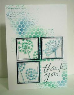 Sponged with Faded Jeans and Evergreen Bough Distress Ink over punched foil @Swanlady Impressions
