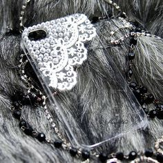 Apple iPod Touch iTouch 4G 4th Generation 4 G / 5 5th Gen 5G Case: Bling Lace Pearl Rhinestone Clear Crystal Hard Skin Case Back Cover (CE) on Etsy, $8.99