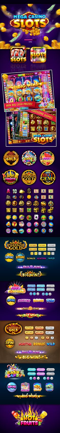 Mega Casino Slots - Game on Behance