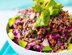 Rainbow Slaw; vegan recipes
