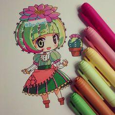 Cactus  Siempre he querido ese tipo de cactus recóndito con una flor en la punta…