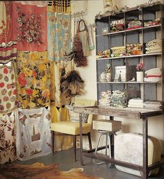 - - - I'm just lusting over these vintage scarf room dividers! They would also make some A-mazing curtains. Scarf Curtains, Gypsy Curtains, Coin Couture, Flea Market Style, Purple Home, Bohemian Interior, Bohemian Bedrooms, Bohemian Homes, Bohemian Living