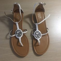 Authentic Coach sandals Worn once for few hours only Coach Shoes Sandals