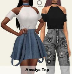 Amalys Top by Lumy Sims for The Sims 4