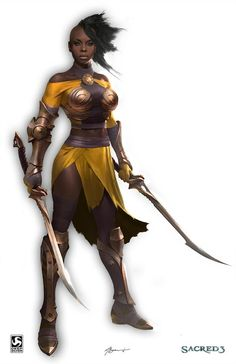 4412 best fantasy female warriors images in 2019 Black Characters, Dnd Characters, Fantasy Characters, Female Characters, Character Portraits, Character Art, Character Design, Character Concept, Concept Art