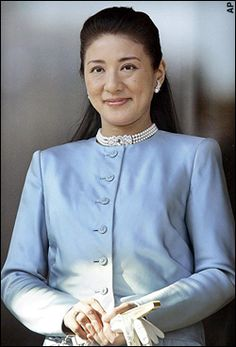 Her Imperial Highness Masako, Crown Princess of Japan. Née Masako Owada, born 9 December 1963, is the wife of Naruhito, Crown Prince of Japan, who is the eldest son of Emperor Akihito and Empress Michiko and the heir apparent to the Chrysanthemum Throne.