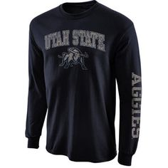 Utah State Aggies New Agenda Distressed Arch & Logo Long Sleeve T-Shirt -  Navy
