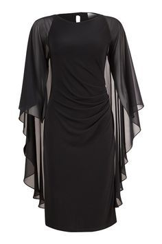 Black Angel Sleeve Dress