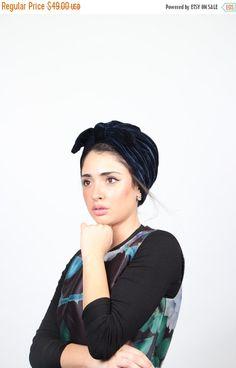 on sale free shipping - velvet turban, knot turban, turban hat, hijab, fashion turban, twist turban, vintage style, retro turban