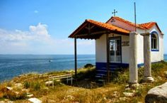 Church on a hill outside Limenas on the Greek Island of Thassos. Gazebo, Pergola, Greek Isles, Greece Islands, Christian Church, Place Of Worship, Where The Heart Is, Outdoor Structures, World