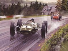 1963 maestro Jimmy Clark streams round spa in the wet