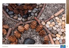 Natural art materials in the outdoor classroom.  Keep empty baskets for children to gather materials on the playground