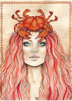 cancer sign or art Cancer Zodiac Women, Cancer Zodiac Art, Cancer Horoscope, Horoscopes, Capricorn, Constellations, Aquarius Constellation Tattoo, Crab Tattoo, Cancer Moon