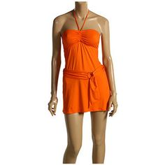NWT JUICY COUTURE HOT TANGERINE Belted Swim Suit Cover Up Dress SZ SMALL