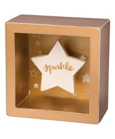 Primitives by Kathy Sparkle Shadow Box Sign | zulily