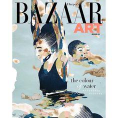 Nigerian Artist Modupeola Fadugba's works cover Harper's Bazaar Art's March Issue Harpers Bazaar, Cover, Artist, Movie Posters, March, Collection, Artists, Film Poster, Billboard