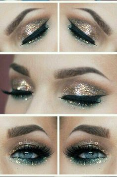 Glitter eyeshadow for the holidays // Steal this look with wet n wild's holiday collection glitter palette #makeup #wetnwild #beauty #holidays #sparkle