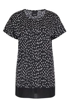 Camiseta m/c larga estampado B&W