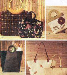 Tapestry Handbags Wool Tote Shoulder Bags Silk Purses Sewing Pattern by TheOldLeaf, $8.95 #MommasGotABrandNewBag