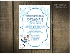 A personal favorite from my Etsy shop https://www.etsy.com/listing/209909591/printable-olaf-frozen-birthday
