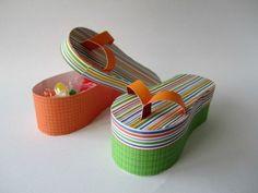 pinterest paper craft box   Free SVG File • flip flop box