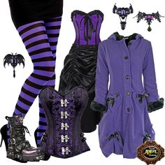 A Purple Day at ANGEL CLOTHING - http://www.kinkyangel.co.uk