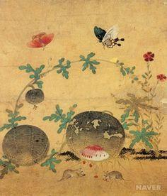• Title:  수박과 들쥐  (watermelon and field moues )   • Artist : 신사임당 /age: 16c