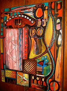 Outsider Art I love the colors and shapes! It has a nice feminine feel to it.