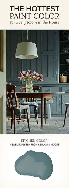 Benjamin Moore's Newburg Green   Kitchen Color Inspiration