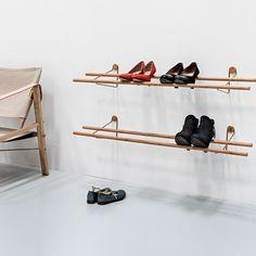 Shoe Rack - Brass