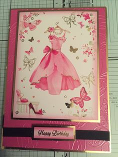 Using a Hunkydory topper and crafters companion embossing folder.