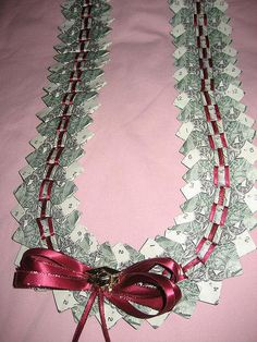 Bow tie money lei