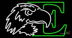 Eastern Michigan Eagles Real Neon Glass Tube Neon Sign,Affordable and durable,Made in USA,if you want to get it ,please click the visit button or go to my website,you can get everything neon from us. based in CA USA, free shipping and 1 year warranty , 24/7 service