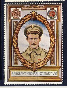 WW1 Superb Military Stamp   Sergeant Michael O'Leary V C | eBay