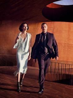 Fei Fei Sun & Joel Kinnaman by Peter Lindbergh for Vogue US, March 2014