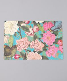 Take a look at this Orange Circle Studios Teal Floral Paper Placemat - Set of 50 by Party Etiquette: Hostess Gifts on #zulily today!