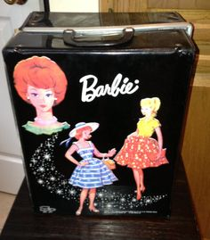 Black Barbie Case For Doll And Clothes 1964 by PickersParadize